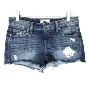 Paige Daryn Denim Distressed Medium Wash Shorts 26
